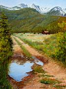 Colorado Prints Originals - Rocky Mountain Reflections by Mary Giacomini
