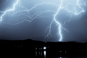 Images Lightning Art - Rocky Mountain Storm  by James Bo Insogna