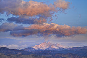 Longs Peak Photos - Rocky Mountain Sunrise by James Bo Insogna