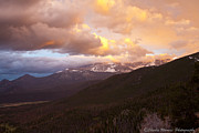 Rocky Mountain Sunset Print by Charles Warren