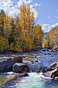 Fishing Creek Prints - Rocky Mountain Water Print by Kelley King