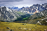 Mountain View Photo Prints - Rocky Mountains in Jasper National Park Print by Elena Elisseeva