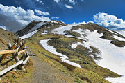 Elevation Photos - Rocky Mountains Path by Olivier Le Queinec