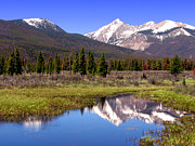 Elevation Framed Prints - Rocky Mountains Peaks Framed Print by Olivier Le Queinec