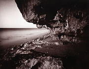 Beach Photograph Photo Originals - Rocky Overhang 2 by Patrick M Lynch