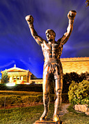 Philadelphia Museum Of Art Prints - Rocky Print by Paul Ward
