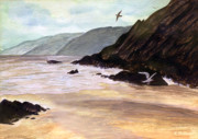 Waterfowl Paintings - Rocky Shore by Brian Wallace