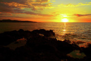 Jamaican Sunset Photos - Rocky Shore by Kamil Swiatek