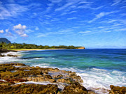 Haleiwa Paintings - Rocky Shore Near Poipu by Dominic Piperata