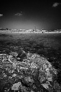 Agia Napa Prints - Rocky Shoreline At Nissi Beach Ayia Napa Republic Of Cyprus Europe Print by Joe Fox