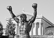 Athlete Framed Prints - Rocky Statue - Philadelphia Framed Print by Brendan Reals