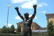 Rocky Balboa Photos - Rocky Statue by Lou Ford