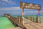 Maria Framed Prints - Rod and Reel Pier Anna Maria Island Framed Print by Jim Dohms