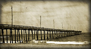 Rodanthe Prints - Rodanthe Fishing Pier  Print by Anne Kitzman