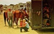Backstage Metal Prints - Rodeo Family Metal Print by Gus McCrea
