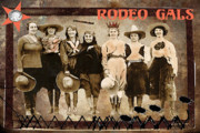 Gals Framed Prints - Rodeo Gals Framed Print by Myrna Jackson