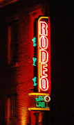 Adspice Studios Art Framed Prints - Rodeo Neon Sign  Framed Print by Adspice Studios