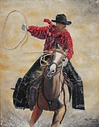 Cowboy Hat Mixed Media - Rodeo Ye-Hah by Terri Thompson