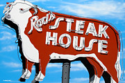 Ross Painting Originals - Rods Steak House by Anthony Ross