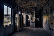 Cabin Window Prints - ROE - GRAVES HOUSE KITCHEN of BANNACK GHOST TOWN - MONTANA Print by Daniel Hagerman