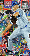 New York Yankees Mixed Media Prints - Roger Clemons Print by Michael Lee