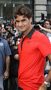 Nike Metal Prints - Roger Federer At A Public Appearance Metal Print by Everett