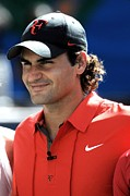In Attendance Prints - Roger Federer In Attendance For Arthur Print by Everett