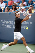 Tennis Posters - Roger Federer Poster by Keith Allen