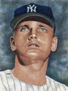 New York Yankees Drawings - Roger Maris by Rob Payne
