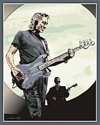 Roger Waters Prints - Roger Waters - Concert in China Print by Liz Molnar