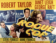 1950s Movies Framed Prints - Rogue Cop, George Raft, Anne Francis Framed Print by Everett