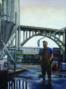 Industrial Painting Prints - Rogue Print by Gregg Hinlicky