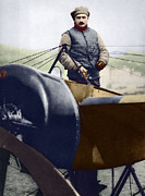 Roland Garros Metal Prints - Roland Garros, French Aviator Metal Print by Sheila Terry