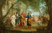 Literature Paintings - Roland Learns of the Love of Angelica and Medoro  by Louis Galloche