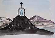Virgin Mary Painting Originals - Roll Cage Mary of Antarctica by Carolyn Doe
