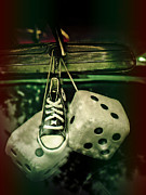 Tennis Shoe Art - Roll of the Dice by Jessica Brawley