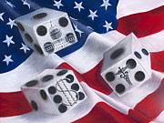 Stars And Stripes Pastels - Roll of the dice by Sharon Allen
