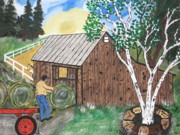 Bales Painting Originals - Roll One Over Here. by Jeffrey Koss