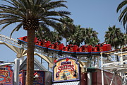 Paradise Pier Framed Prints - Roller Coaster - 5D17628 Framed Print by Wingsdomain Art and Photography