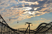 Jersey Shore Digital Art Posters - Roller Coaster - Wildwood NJ Poster by Bill Cannon