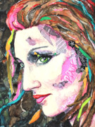 Beautiful Woman Mixed Media - Roller Girl 191 by Patricia Allingham Carlson