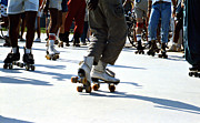 Old Skates Photo Prints - Roller skates Print by Emanuel Tanjala