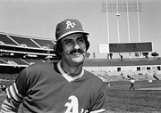 1975 Framed Prints - Rollie Fingers (1946- ) Framed Print by Granger