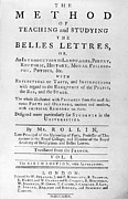 Rollin: Title Page, 1769 Print by Granger