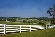 Split Rail Fence Framed Prints - Rolling Countryside Framed Print by Trudy Wilkerson