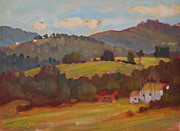 Assorted Painting Framed Prints - Rolling Hills Of Cheshire Framed Print by Len Stomski