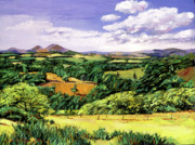 Rolling Hills Of Scotland Print by David Lloyd Glover