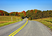 Rural Road Prints - Rolling Into Autumn Print by Steve Harrington