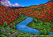 Landscape Paintings - Rolling Rio Grande by Johnathan Harris