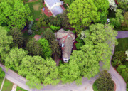 Chestnut Hill Wyndmoor Blue Bell Aerial Photographs - Rolling Road Bala Cynwyd Pennsylvania by Duncan Pearson